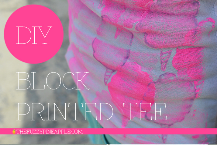 DIY Cotton Candy Block Printed Shirt