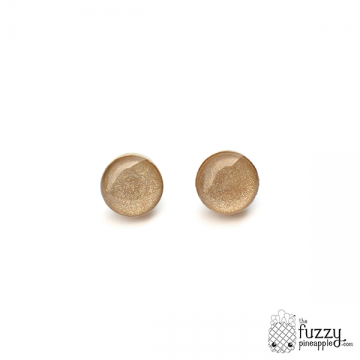 Champagne Chunky Dot Earrings