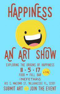 Happiness Art Show @ Nefetari's Fine Cuisine & Spirits | Tallahassee | Florida | United States