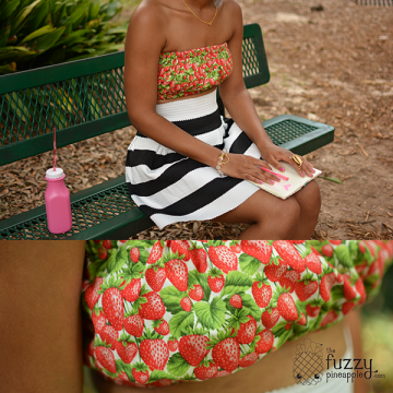 Strawberry Bandeau by The Fuzzy Pineapple