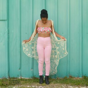 Crisp Watermelon Custom Reversible Bandeau Top