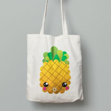 TFP Logo Pineapple Tote Bag by The Fuzzy Pineapple