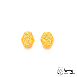 Enchanted Lemon Drop Hexagon Earrings