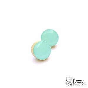 Mint Chunky Candy Dot Earrings