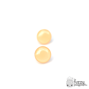 Peach Chunky Candy Dot Earrings