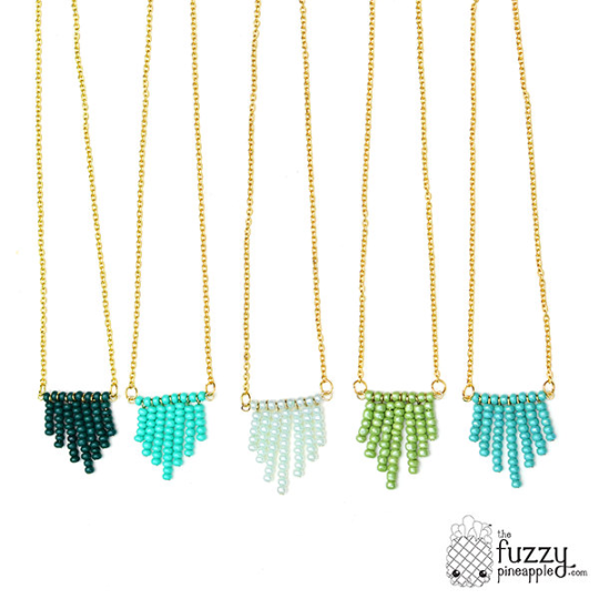 Cascading Necklaces in Mint