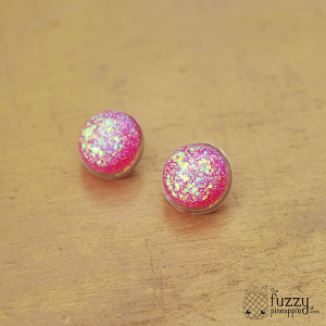 Gubble Gum Sparkle Stud Earrings