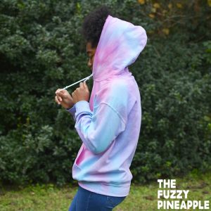 Color Wheel Hoodie in Pink, Blue, Purple